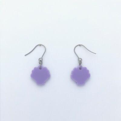 Tiny Lilac Shell Dangles