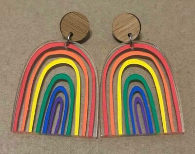 Large Bright & Happy Rainbow dangles