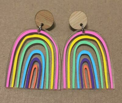 Large Pastel Rainbow dangles