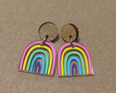 Small Pastel Rainbow dangles