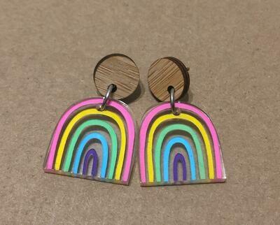 Small Pastel Rainbow dangles