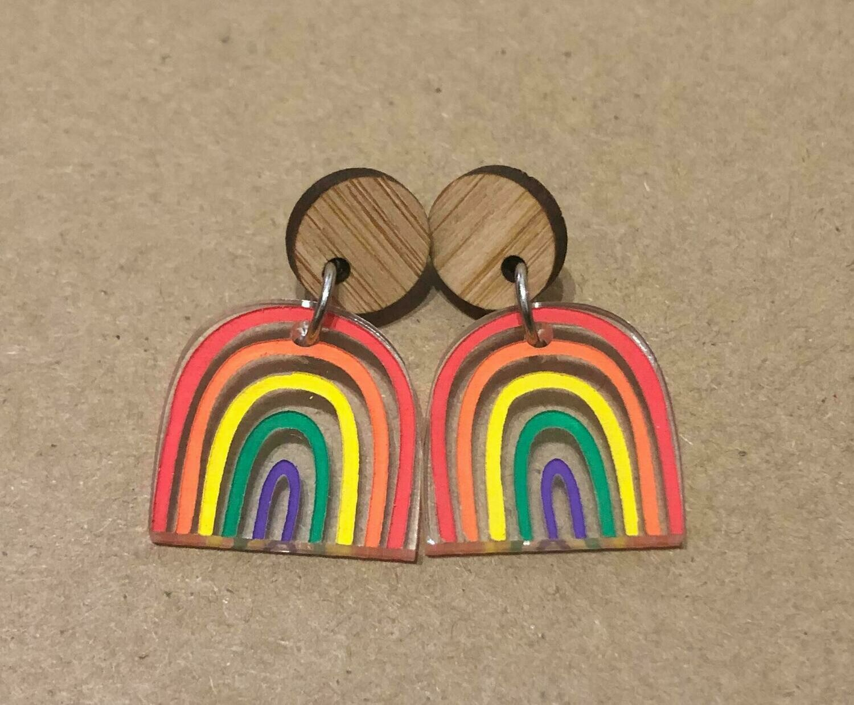 Small Bright & Happy Rainbow dangles