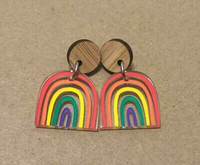 Small Bright & Happy Rainbow dangles