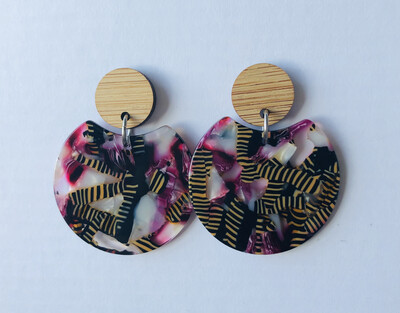 Tiger Stripe Pink Dangles