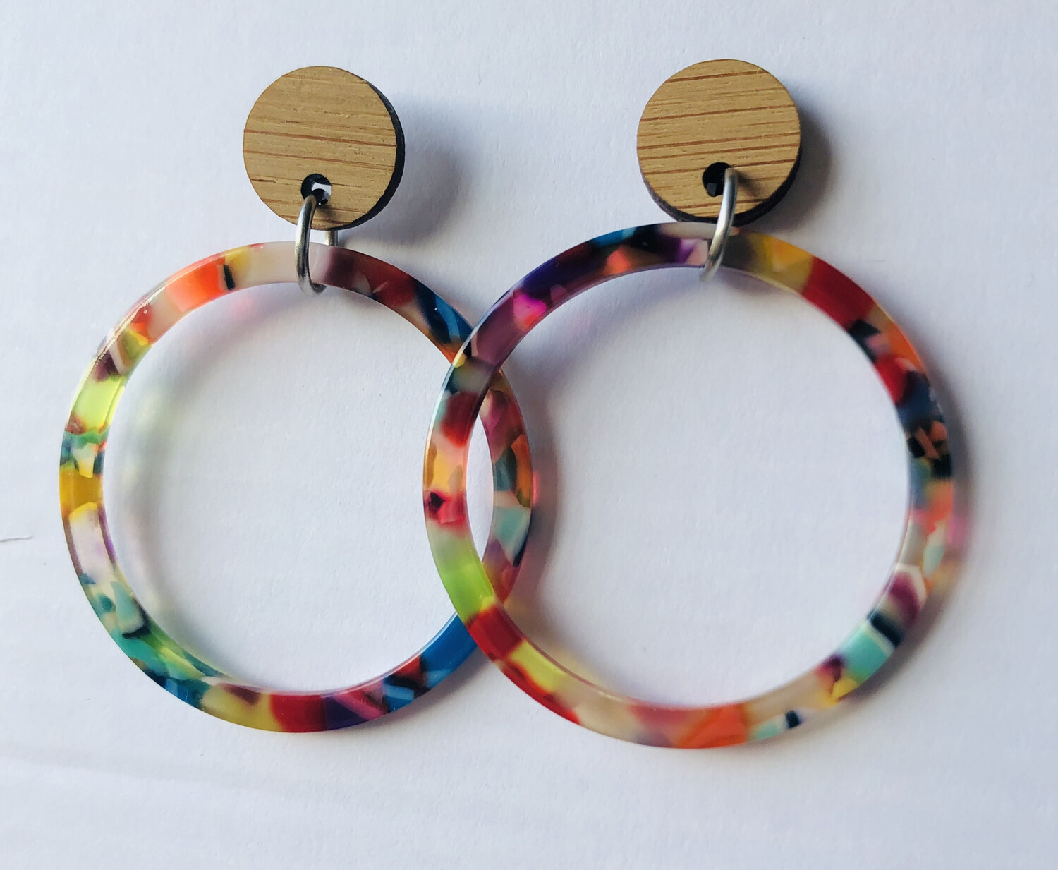 Colourful Hoop Dangles