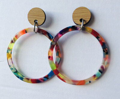 Colourful Hoop Dangles