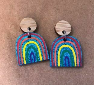 Blue Sparkly Rainbow Dangles (small)