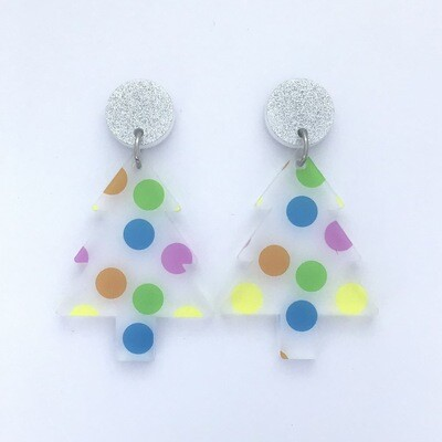 'Polka Dot' Christmas Tree Dangles