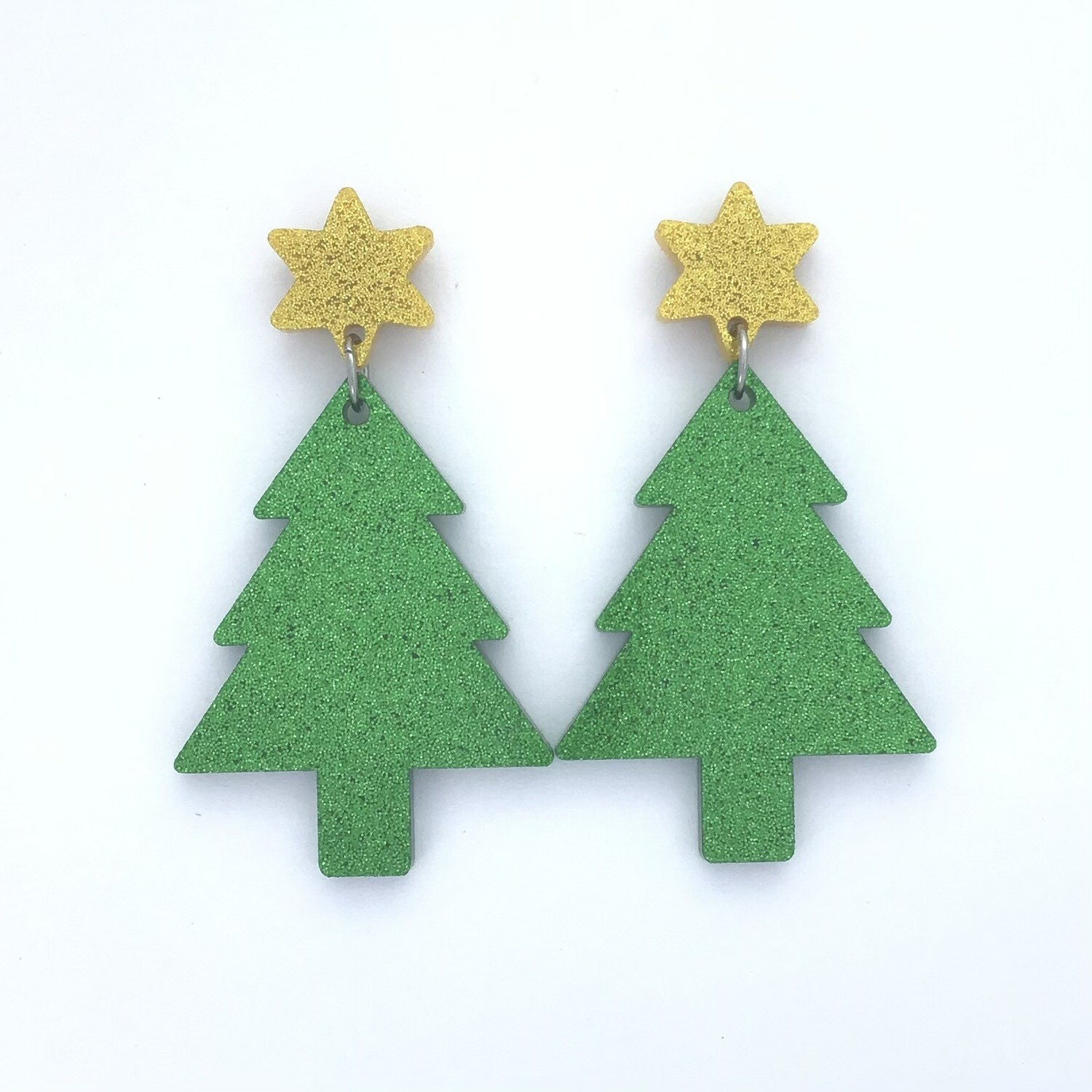 Gold Star Christmas Tree Dangles