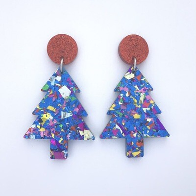 Red 'Party Time' Christmas Tree Dangles