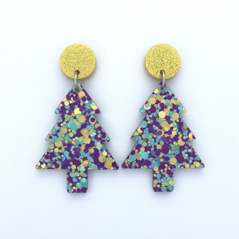Confetti Christmas Tree Dangles