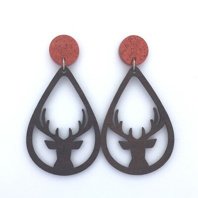 Red Top Deer Dangles