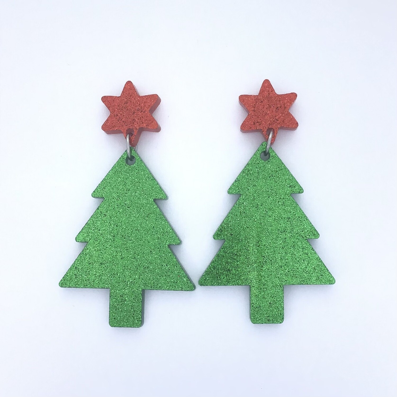 Red Star Christmas Tree Dangles