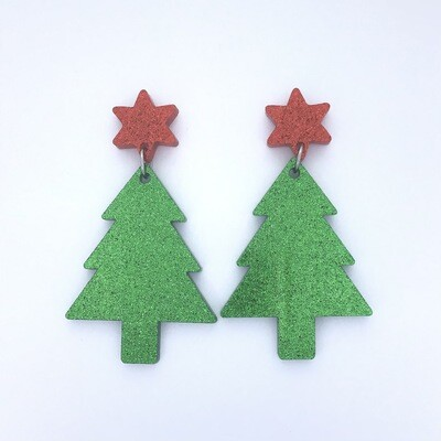 Red Star Christmas Tree Dangles
