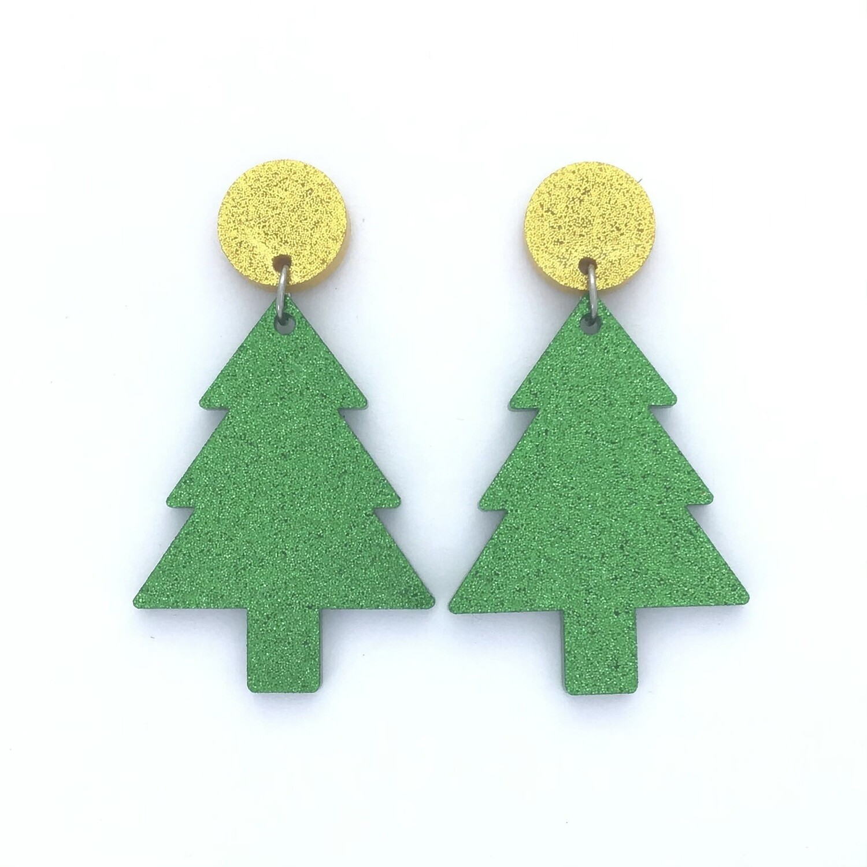 Gold Top Christmas Tree Dangles