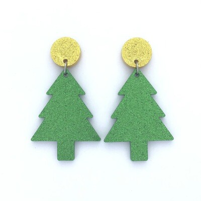 Gold Top Christmas Tree Dangles