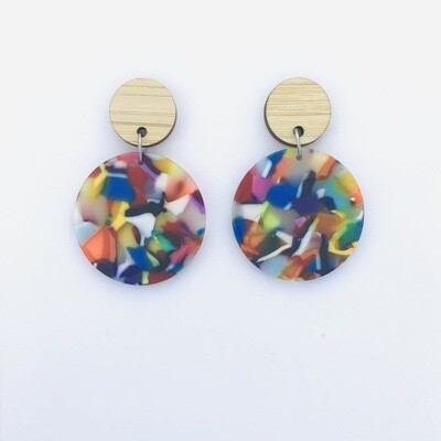 Colourful Circle Dangles