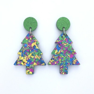 Green 'Party Time' Christmas Tree Dangle
