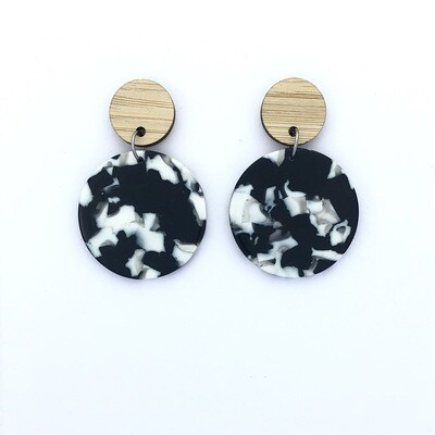 Monochrome Circle Dangles