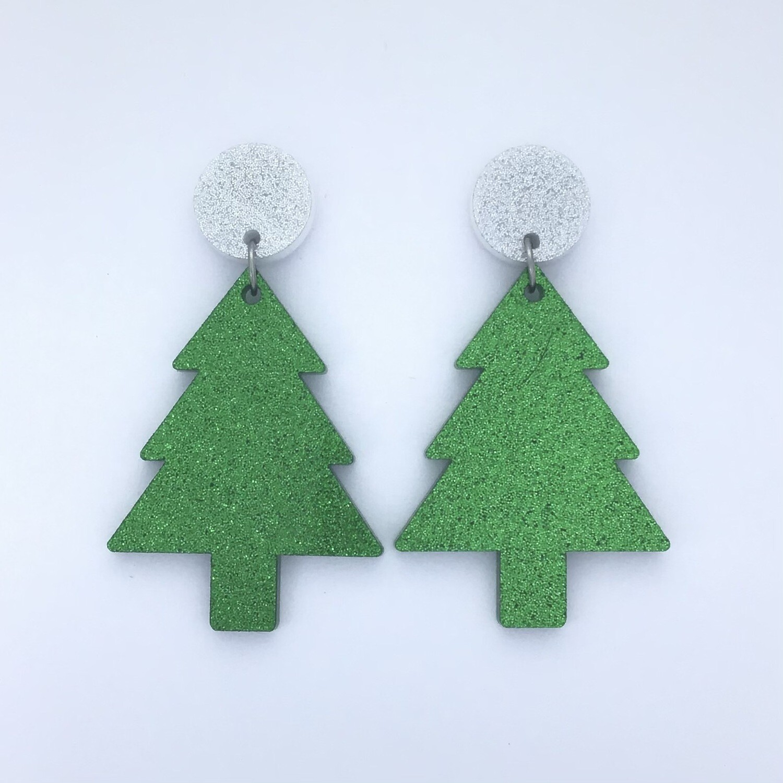 Silver Top Christmas Tree Dangles