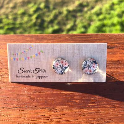 Pastel Floral Earrings - 12mm