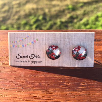 Poppy Field Earrings - 12mm