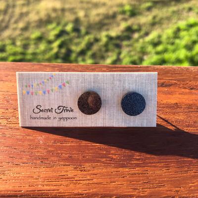 Black Glitter Dots