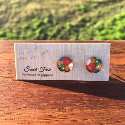 Japanese Blossom Earrings - 12mm