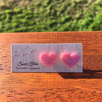 Pink Glitter Hearts