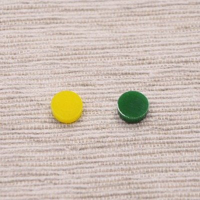 Green & Yellow Pop Dots Earrings