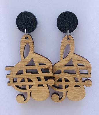 Bamboo Music Dangle Earrings