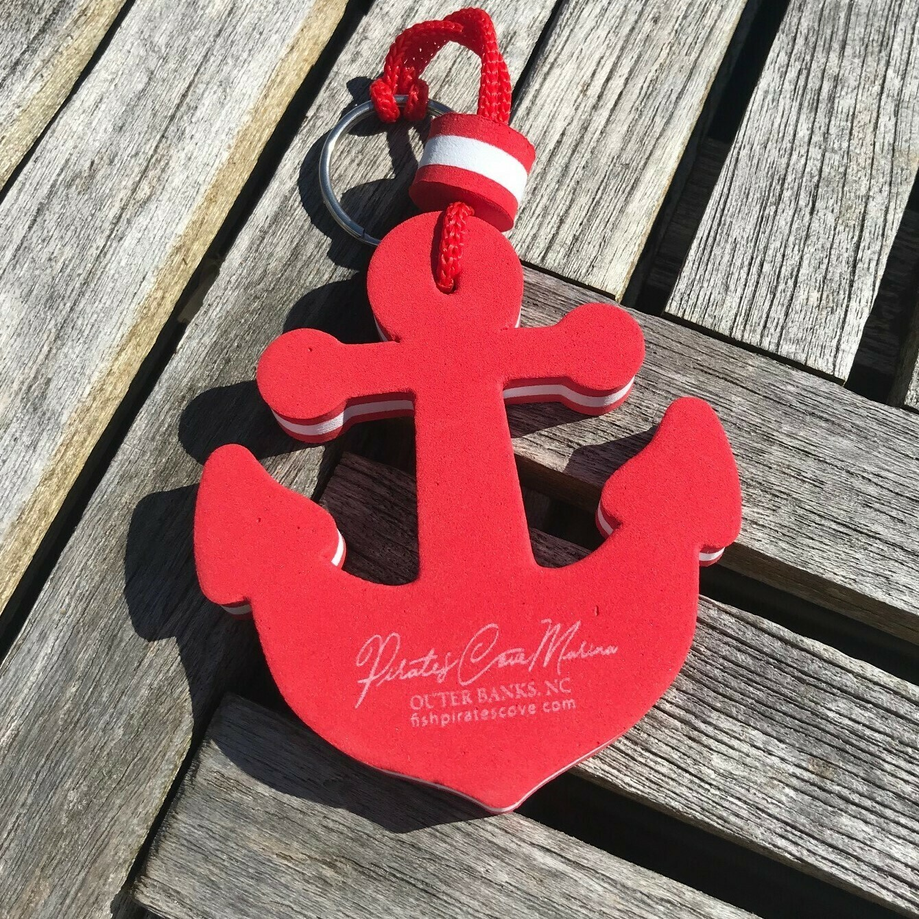 Pirate's Cove Floating Anchor Keychain