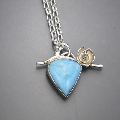 Larimar with Flower