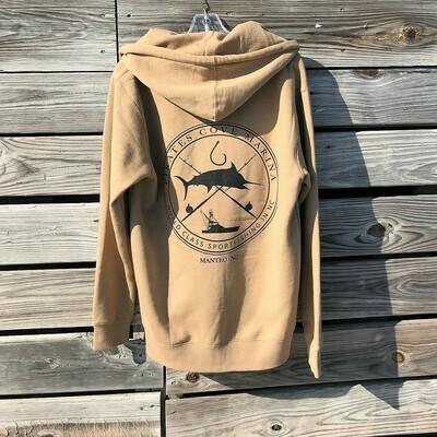 PC Cross Icon Full Zip Hooded Sweatshirt
