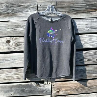 Ladies' Preppy Marlin Washed Crewneck Sweatshirt