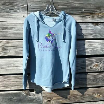 Ladies' Preppy Marlin Washed Hooded Sweatshirt