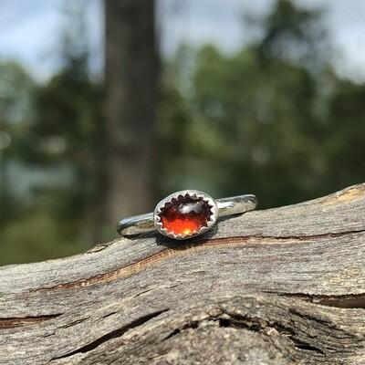 Small Garnet Ring