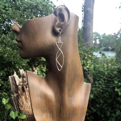 Slim Sterling Silver fish Earring