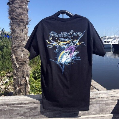 Blue with Lure Short Sleeve T-Shirt