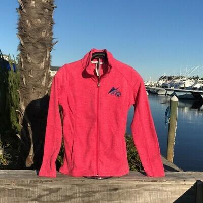 Ladies Micro Full Zip Fleece with Scratchy Marlin Logo