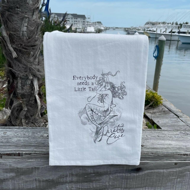 Pirate's Cove Flour Sack Dish Towel Mermaid