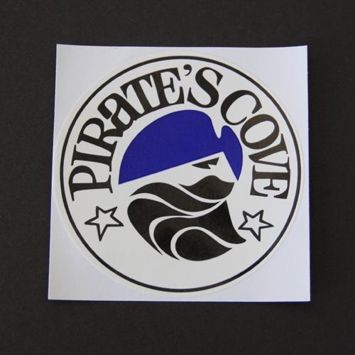 Pirate's Cove Circle Logo Sticker