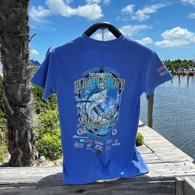 38th Annual Pirate's Cove Billfish Tournament Short Sleeve T-Shirt
