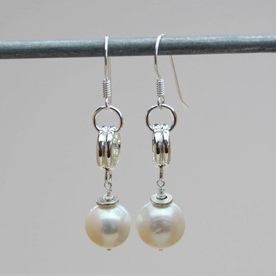 Earring Sterling Silver with 11mm Pearl