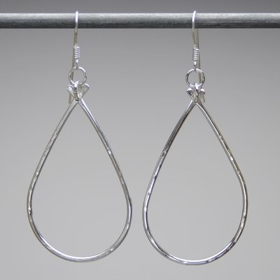 Sterling Silver Large Teardrop