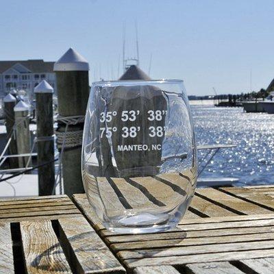 Pirate's Cove Longitude and Latitude Stemless Wine Glass