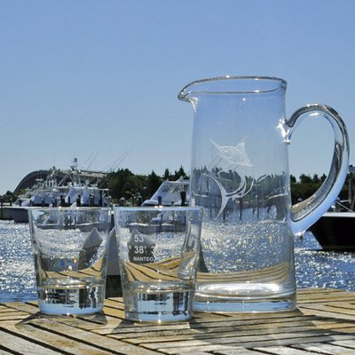 Pirate's Cove Marina Longitude and Latitude Highball Glass