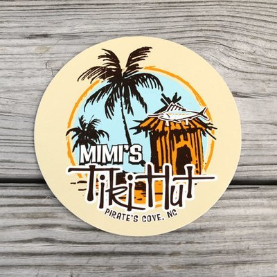 Mimi's Tiki Hut Sticker