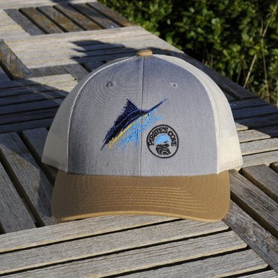 Richardson 115 Trucker Hat with Scratchy Marlin Logo
