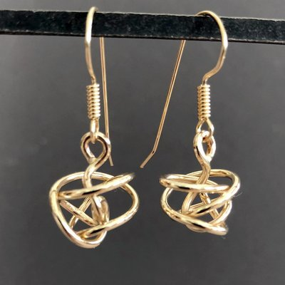 Gold-filled Knot Earrings